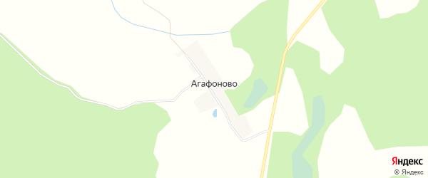 Карта деревни Агафоново в Тверской области с улицами и номерами домов