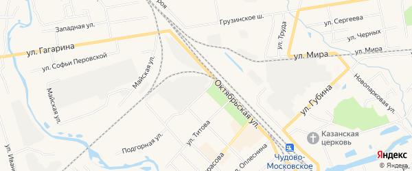 Территория ГК N4 по ул. Глеба Успенского на карте Чудово с номерами домов