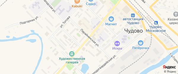 Восточная улица на карте Чудово с номерами домов