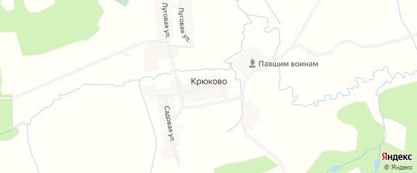 Карта деревни Крюково в Смоленской области с улицами и номерами домов