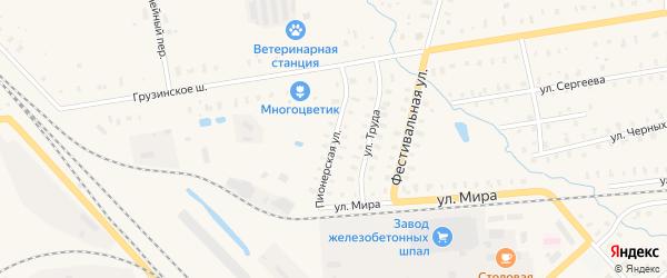 Пионерская улица на карте Чудово с номерами домов
