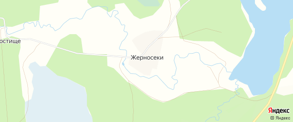 Карта деревни Жерносеки в Тверской области с улицами и номерами домов