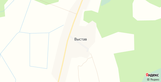 Карта деревни Выстав в Ленинградской области с улицами, домами и почтовыми отделениями со спутника онлайн