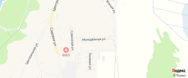 Молодежная улица на карте села Кожаны с номерами домов