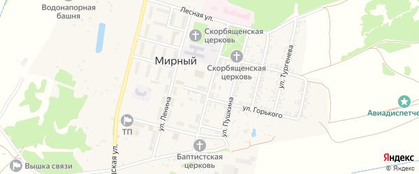 Комсомольская улица на карте Мирного поселка с номерами домов