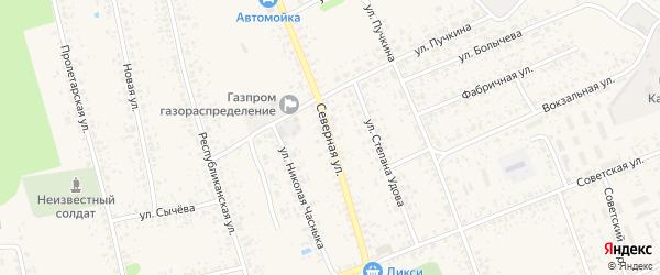 Северная улица на карте Злынки с номерами домов