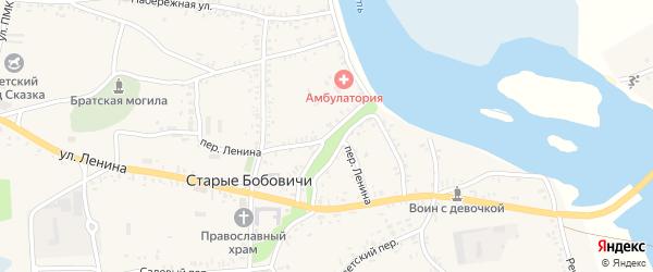 Октябрьский переулок на карте села Старых Бобовичей с номерами домов