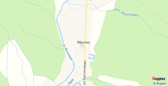 Карта деревни Мытно в Новгородской области с улицами, домами и почтовыми отделениями со спутника онлайн