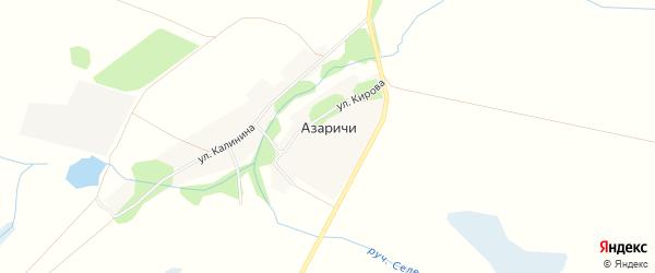 Карта села Азаричи в Брянской области с улицами и номерами домов