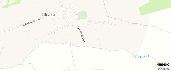 Лесная улица на карте деревни Шпаки Смоленской области с номерами домов