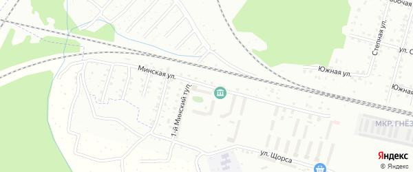Минская улица на карте Смоленска с номерами домов