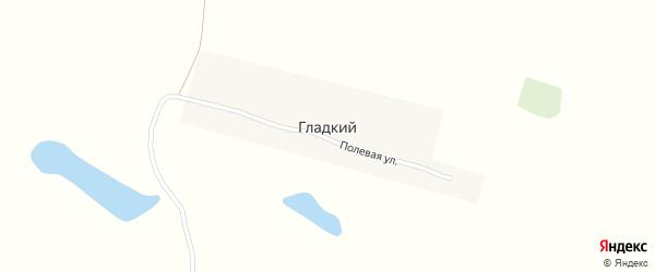 Полевая улица на карте Гладкого поселка Брянской области с номерами домов