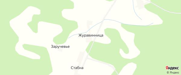 Карта деревни Журавинницы в Смоленской области с улицами и номерами домов