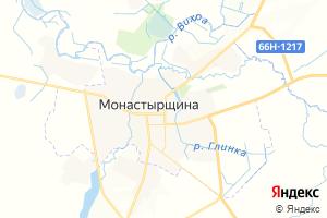 Карта пгт Монастырщина Смоленская область