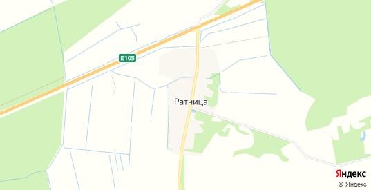 Карта деревни Ратница в Ленинградской области с улицами, домами и почтовыми отделениями со спутника онлайн