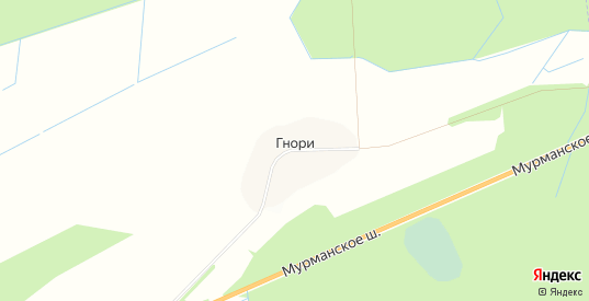 Карта деревни Гнори в Ленинградской области с улицами, домами и почтовыми отделениями со спутника онлайн