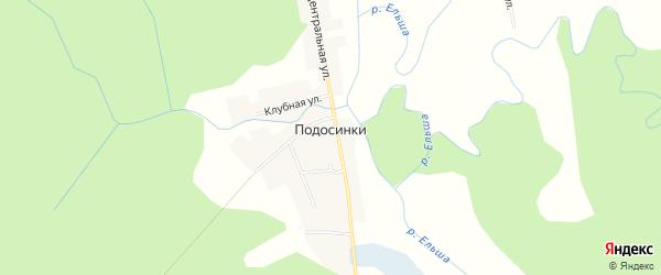 Карта поселка Подосинки в Смоленской области с улицами и номерами домов