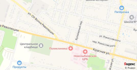Верхний переулок в Новозыбкове с номерами домов на карте. Спутник и схема онлайн