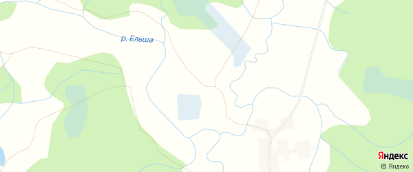 Карта деревни Новое Пригарино в Смоленской области с улицами и номерами домов