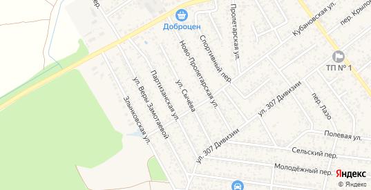 Улица Сычева в Новозыбкове с номерами домов на карте. Спутник и схема онлайн