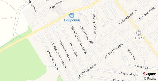 Ново-Пролетарская улица в Новозыбкове с номерами домов на карте. Спутник и схема онлайн