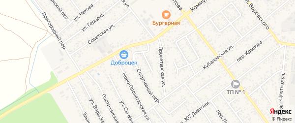 Дорожный переулок на карте Новозыбкова с номерами домов
