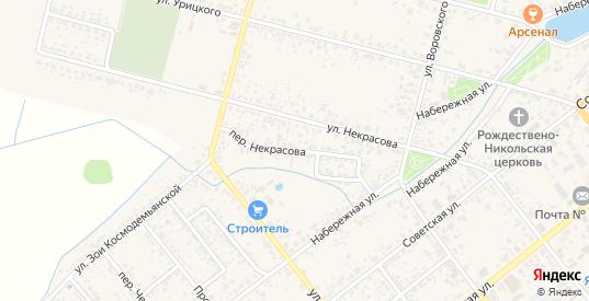 Переулок Некрасова в Новозыбкове с номерами домов на карте. Спутник и схема онлайн