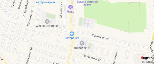 Советская площадь на карте Новозыбкова с номерами домов