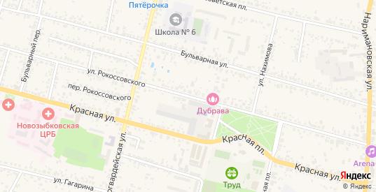 Улица Рокоссовского в Новозыбкове с номерами домов на карте. Спутник и схема онлайн