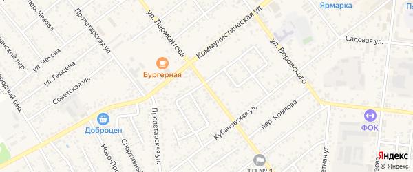 Улица Лермонтова на карте Новозыбкова с номерами домов