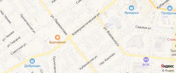 Переулок Матросова на карте Новозыбкова с номерами домов