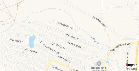 Луговая улица в Новозыбкове с номерами домов на карте. Спутник и схема онлайн