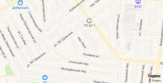 Переулок Лазо в Новозыбкове с номерами домов на карте. Спутник и схема онлайн