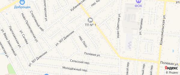 Цветной переулок на карте Новозыбкова с номерами домов
