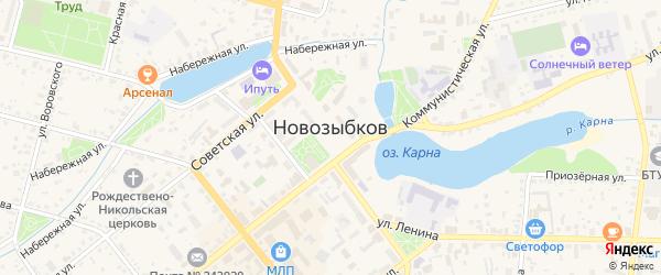 Территория ЖСК N6 на карте Новозыбкова с номерами домов