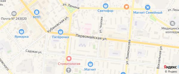 Первомайская улица на карте Новозыбкова с номерами домов