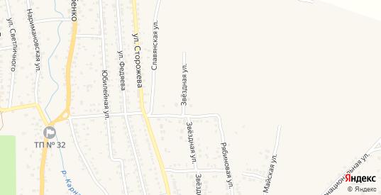 Звездная улица в Новозыбкове с номерами домов на карте. Спутник и схема онлайн