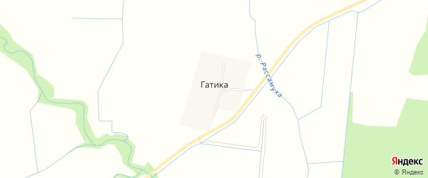 Карта деревни Гатики в Ленинградской области с улицами и номерами домов