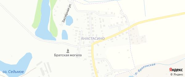 Поселок Анастасино на карте Смоленска с номерами домов