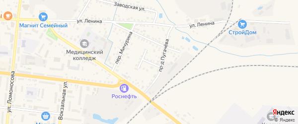 Переулок Котовского на карте Новозыбкова с номерами домов