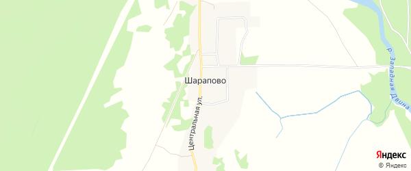 Карта деревни Шарапово в Тверской области с улицами и номерами домов