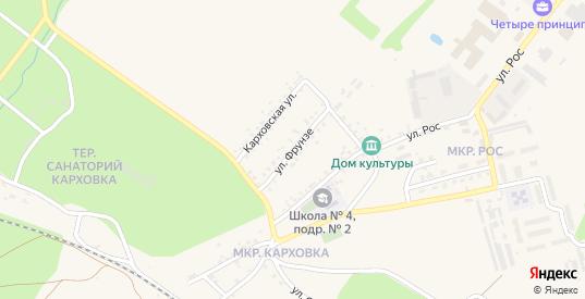 Улица Фрунзе в Новозыбкове с номерами домов на карте. Спутник и схема онлайн