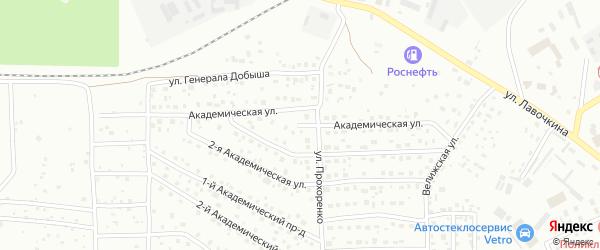 Академическая 4-я улица на карте Смоленска с номерами домов