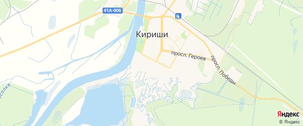 Карта Киришей с районами, улицами и номерами домов: Кириши на карте России