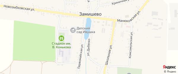 Улица Дыбенко на карте села Замишево с номерами домов