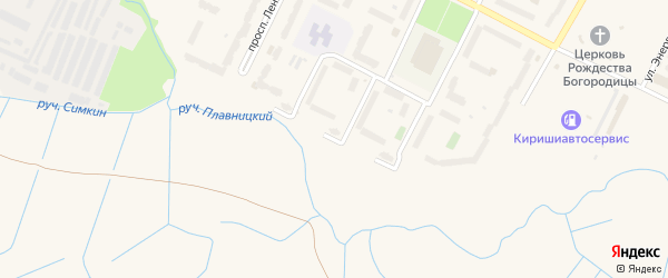 Плавницкий бульвар на карте Киришей с номерами домов