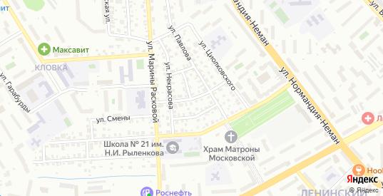 Молодогвардейская улица в Смоленске с номерами домов на карте. Спутник и схема онлайн