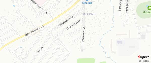 Малиновая улица на карте Смоленска с номерами домов