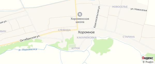 Карта Хоромного села в Брянской области с улицами и номерами домов