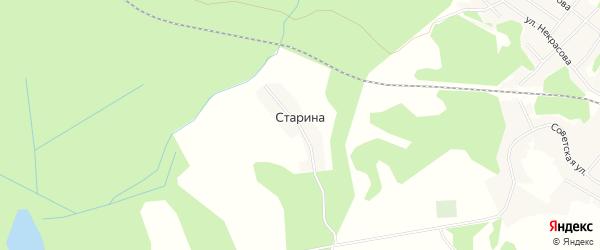 Карта деревни Старина в Тверской области с улицами и номерами домов